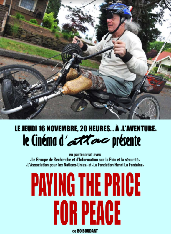 Paying The Price For Peace premieres in Europe at the Cinema d'attac festival November 16th, 2017