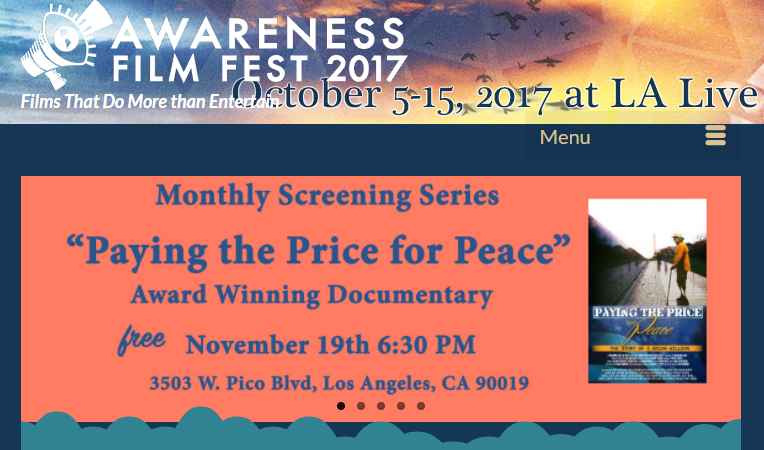 Awareness Fest Free Screening Nov 19 2017