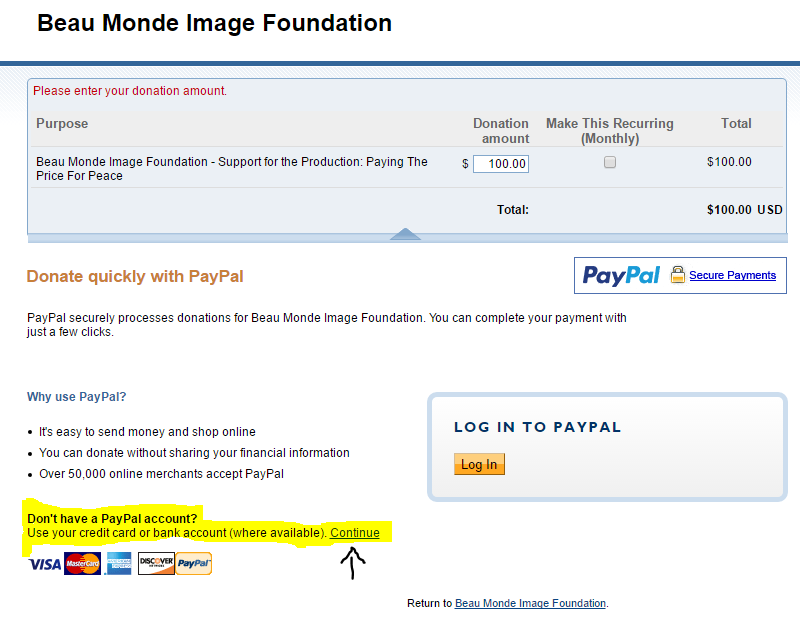 How to Donate Using Paypal